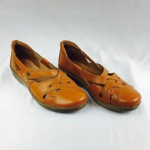 Clarks Collection Brown Leather Shoes 7.5 W
